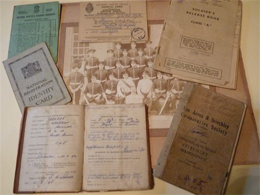 Typical family documents of the early 20th Century.